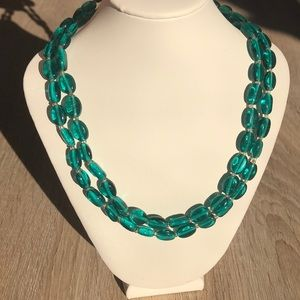 Jewelry - Teal Glass Bead Necklace